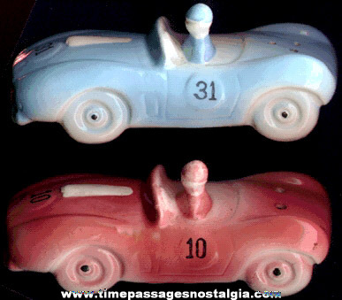 Old Racing Car Salt & Pepper Shaker Set
