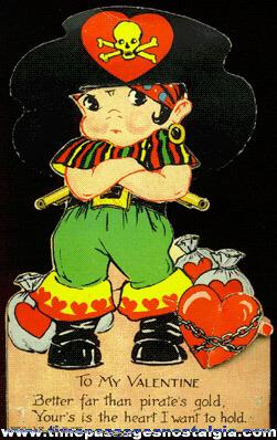 1939 Mechanical Pirate Valentine Card