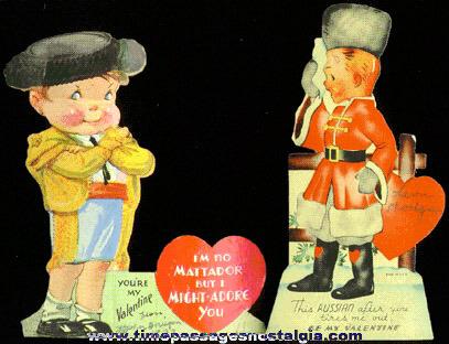 (2) 1939 Valentine Cards