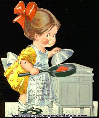 1923 Mechanical Valentine Card