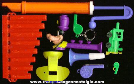 (9) Plastic Whistles