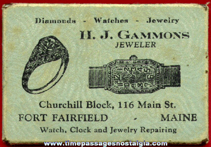 Old Jeweler Advertising Premium Pocket Mirror