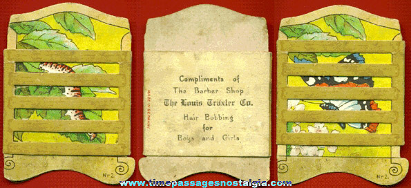 RARE Old Barber Shop Advertising Premium Moving Picture
