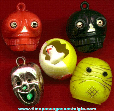 (5) Old Bubble Gum Machine Mechanical Charms / Figures
