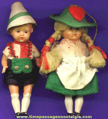 (2) (Boy & Girl) European Dressed Dolls