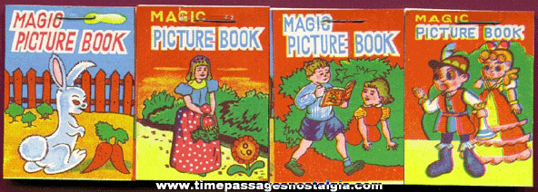 (4) Different Small Novelty Magic Picture Books