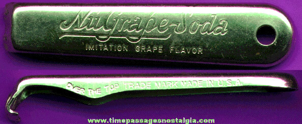 Old NUGRAPE SODA Advertising Premium Bottle Opener