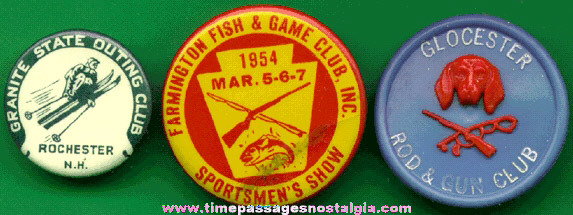 (3) Different Old Sportsman Pins