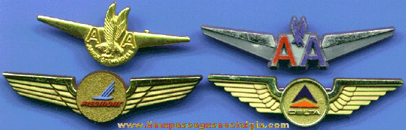 (4) Different Airline Advertising Wing Pins
