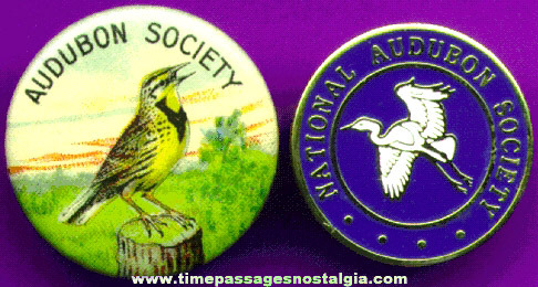 (2) Audubon Society Pins (One Old And One Newer)