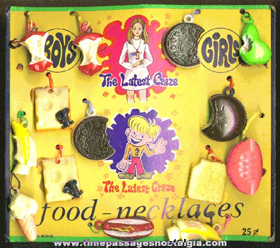Scarce 1960's - 1970's Full Gum Ball Machine Prize Display Header Card