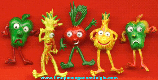 (5) Vegetable Creature Gum Ball Machine Prizes