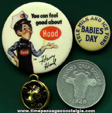 (4) Small Old Milk / Dairy Advertising Items