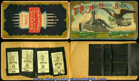 Old Graphic Army And Navy Needle Book