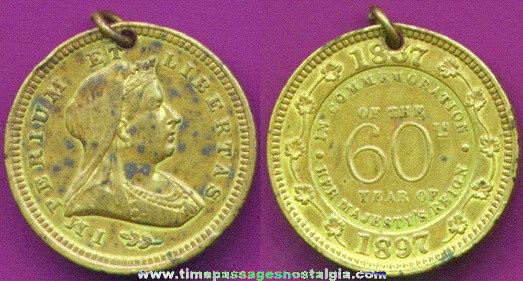 Queen Victoria 1837 - 1897 60th Year Coin / Medallion