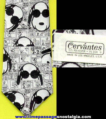 Charles Schulz Peanuts Joe Cool Snoopy Cartoon Comic Strip Character Neck Tie