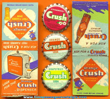 (5) Small Old Crush Soda Advertising Items