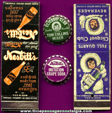 (4) Small Old Soda Advertising Items