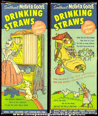 Full Old Mother Goose Nursery Rhyme Drinking Straws Box