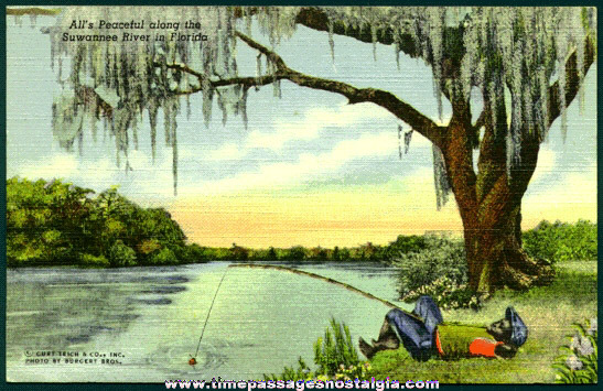 Old Florida Black Americana Post Card