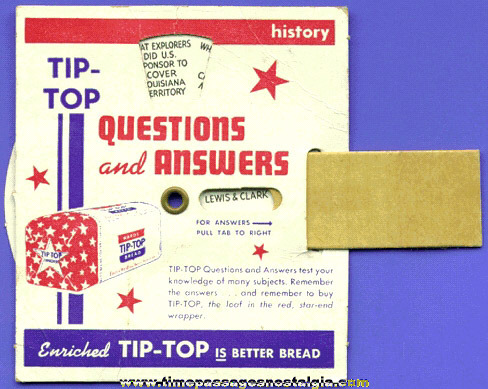 Old Tip - Top Bread Advertising Dial Premium