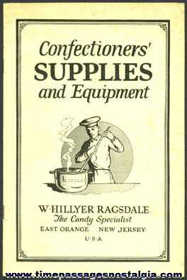 Old CONFECTIONERS' SUPPLIES AND EQUIPMENT BOOKLET