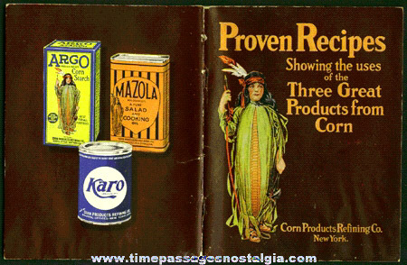 Old Corn Products Refining Company Advertising Recipe Booklet