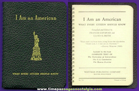 "Old ""I AM AN AMERICAN"" What Every Citizen Should Know Book"