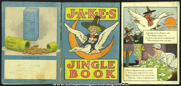 "Old ""JAKES JINGLE BOOK"" Drug Advertising Nursery Rhyme Premium Book"