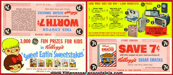 ©1967 Advertising Coupon and contest For Kellogg's Cereals