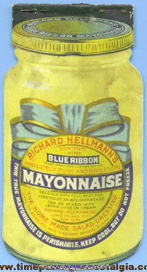 Old Die Cut Richard Hellmann's Mayonnaise Advertising Recipe Booklet