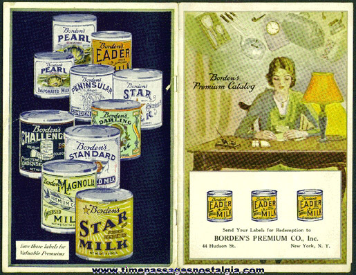 1929 BORDEN'S MILK Premium Catalog Booklet With A Premium Coupon