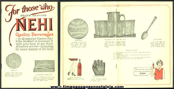 NEHI (soda) BEVERAGES Advertising Premium Catalog Booklet