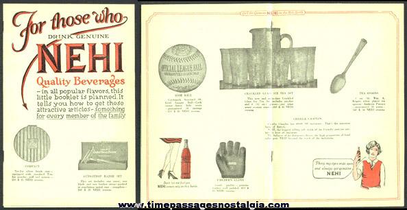 NEHI (soda) BEVERAGES Advertising Premium Catalog Booklet