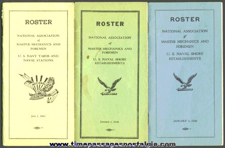 (3) National Association Of Master Mechanics And Foremen Union Roster Books