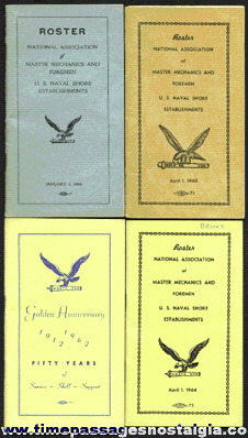 (4) National Association Of Master Mechanics And Foremen Union Roster Books
