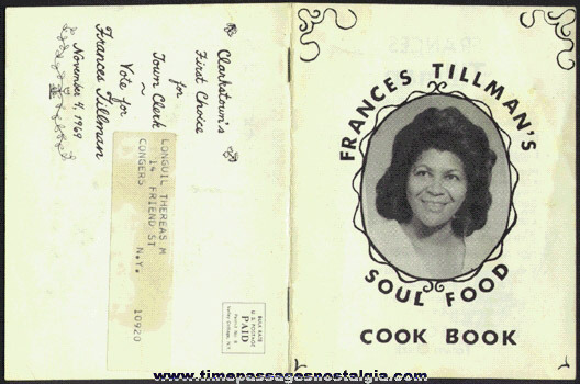 1969 Frances Tillman Democratic Candidate Soul Food Cook Book
