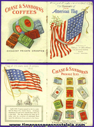©1912 Chase & Sanborn Tea & Coffee Advertising Premium / Prize Booklet