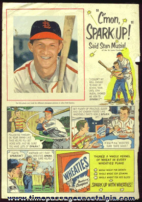 1950's Stan Musial / Wheaties Cereal Dell Comics Advertisement