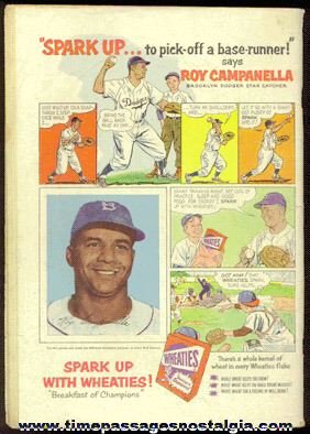 1954 Roy Campanella / Wheaties Cereal Dell Comics Advertisement