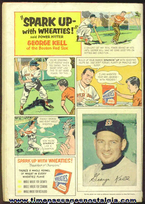 1953 George Kell / Wheaties Cereal Dell Comics Advertisement