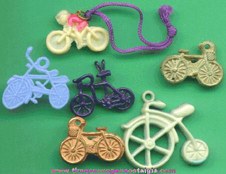 (6) Different Old Bicycle Charms