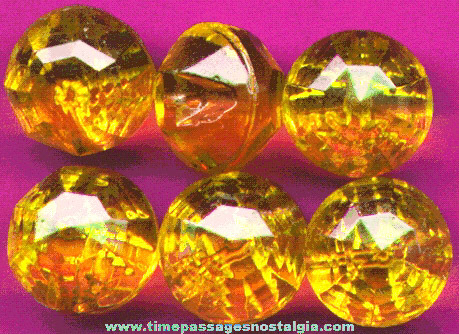(6) Matching Antique Glass Clothing Buttons