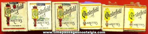 (6) 1930's - 1950's CHESTERFIELD Cigarettes Charms
