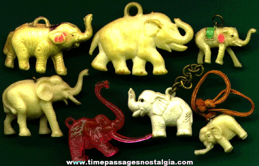 (7) 1930's to 1960's Elephant Charms