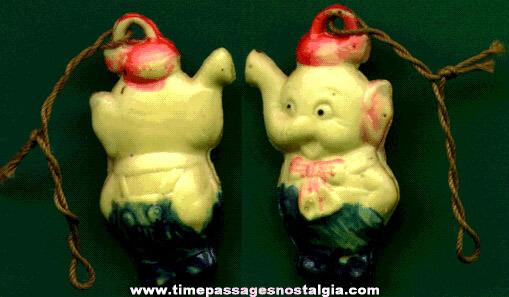 Scarce 1930's Elmer Elephant Character Celluloid Charm