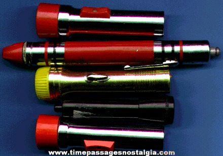 (5) Small Old Flashlights