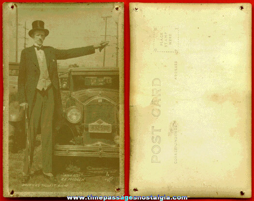 1928 Real Photo Post Card Of A Giant Man