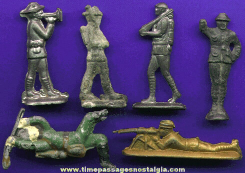 (6) Old Lead Toy Soldiers
