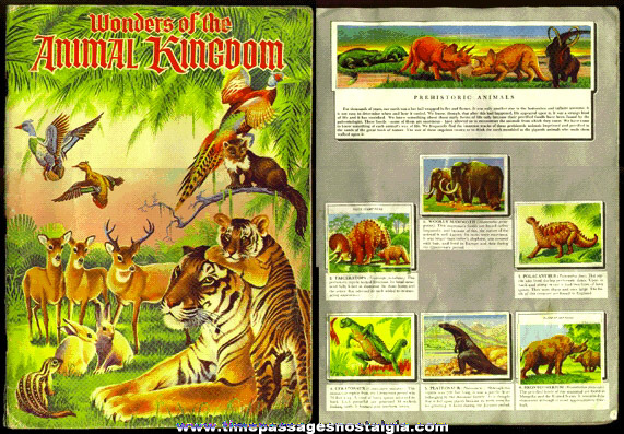 "Full ©1959 ""WONDERS OF THE ANIMAL KINGDOM"" Sticker Book"